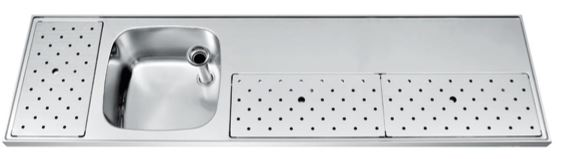 Franke ST-BB180-1L lekblad spoelblad tapblad
