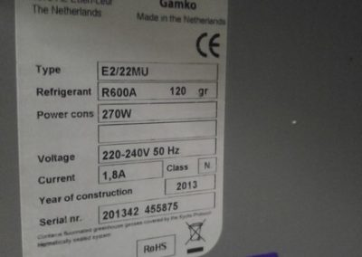 Gamko E2/22MU, fustenkoeling, biertap, bierkoeler, snelkoeler